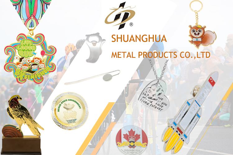 Metal annulus die casting sport medals with ribbon