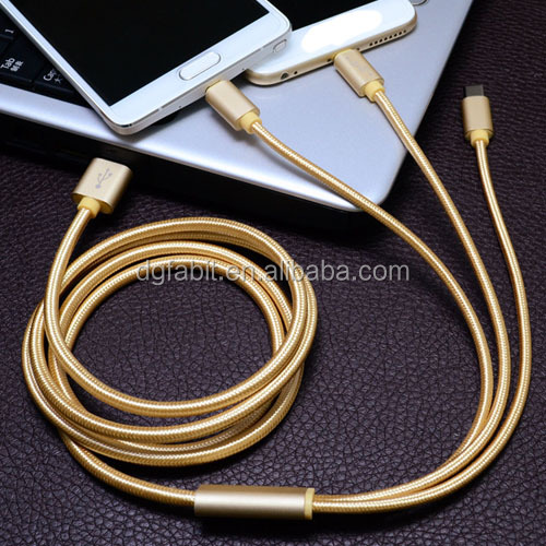 Multiple USB Charger Cable 3 in 1 USB Cable