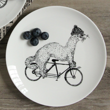 Best selling wholesale cheap custom logo printed cute ceramic dinner <strong>plate</strong>