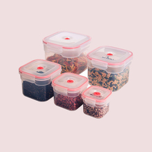 Air-Tight Storage Durable BPA Free Clear Plastic Food Container