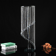 crystal wedding centerpieces, tall crystal pillar stand and flower stand