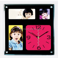 home decoration items Wall Clock photo frame insert clock