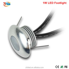 IP67 low power 1W min round underground LED recessed floor light
