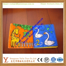 Custom educational toy product & soft cloth book for kids