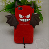Cheap price cartoon devil Silicone Velvet Skin phone Case for iphone5 5S