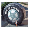 hot sell inflatable roller wheel inflatable tire for outdoor advertising