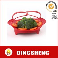 Heat resistant silicone steamer for vegetable