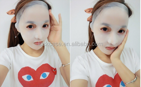 Prevent water evaporation silicone facial mask silicone female face mask