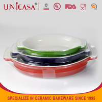 UNICASA new style oval-shaped Ceramic cookware set
