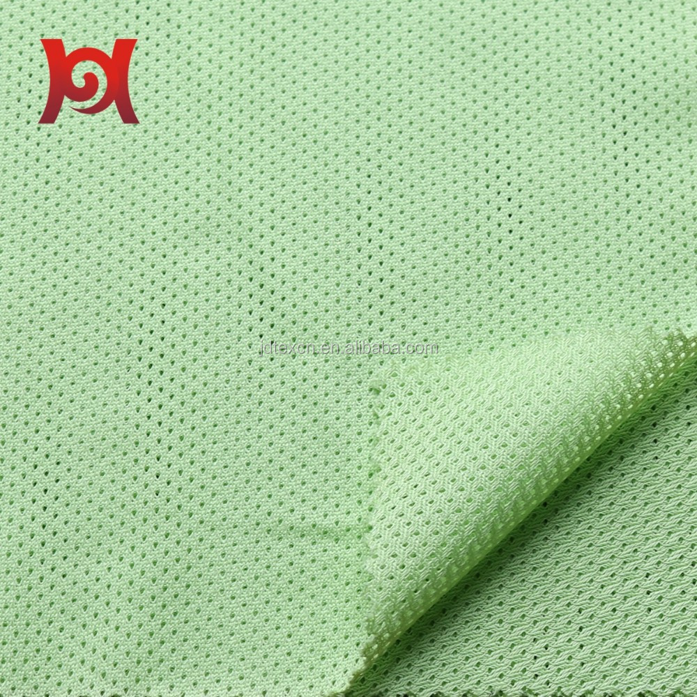 warp knitting shiny polyester mesh fabric for Sports Shoes