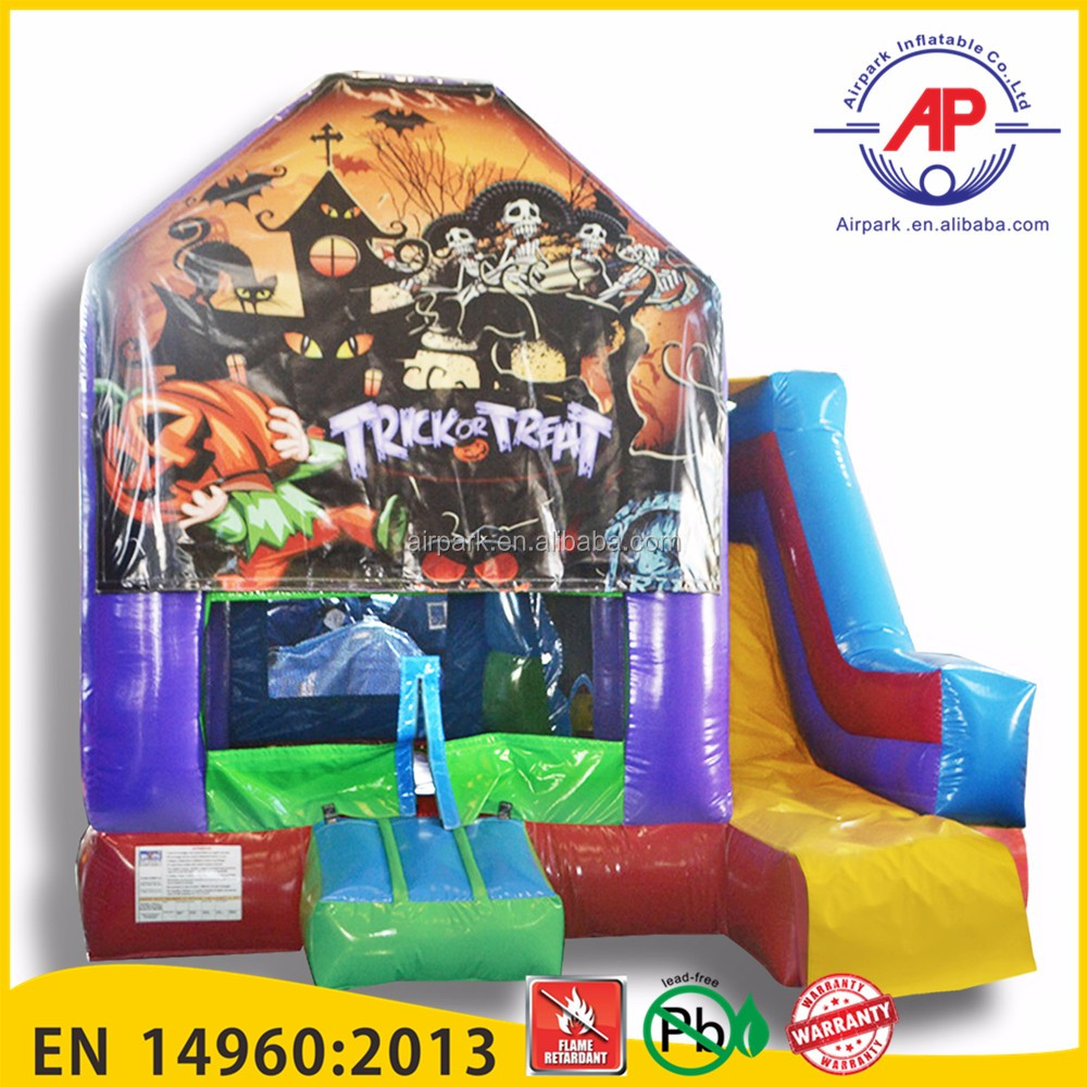 Airpark Happy Christmas Inflatable Slide, inflatable water slide, Christmas house Inflatable bouncer slide