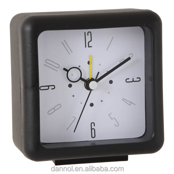 Square plastic bedside clock with alarm/ discount clocks