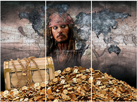Canvas Painting Hd Movie Posters Pirates Painting On Canvas 5 Panels Wall Picture