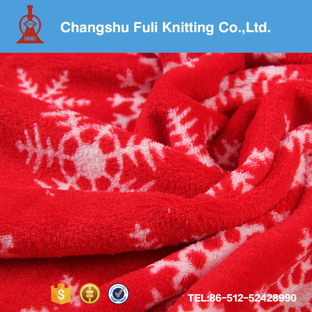 christmas polyester coral fleece fabric for sale