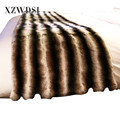 CX-D-128A Domestic Sofa Full Pelt Real Rex Rabbit Fur Blanket