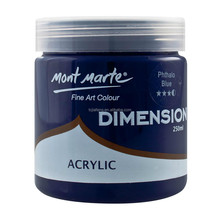 Mont Marte Dimension Acrylic Paint 250mls - Phthalo Blue