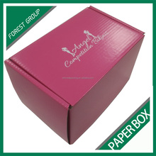 Custom printing pink corrugated paper box for retail with free sample on sale