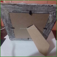 Home Style Single Rustic Grey Wood Photo Frame for Centrepiece