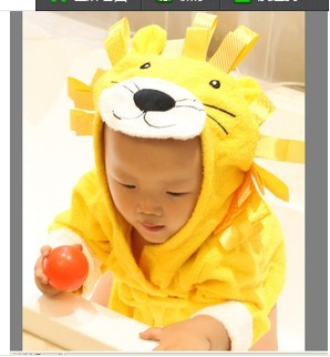 kids animal bathrobe cartoon pattern sleepwear for baby clothes
