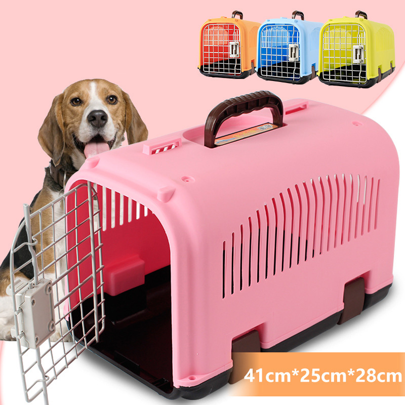 ABS Plastic Transport Pet Dog Travel Cage