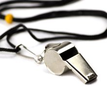 Stainless Steel Coach Whistle with Lanyard