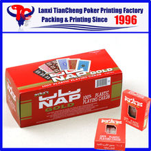 2015 HIGH QUALITY Famous Brand NAP 100% plastic playing cards on best sale
