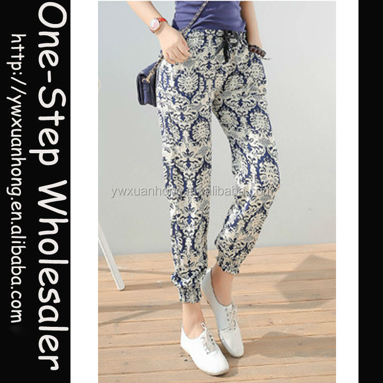 Fashion High quality free size with big stretch women cotton harem pants
