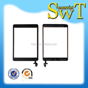factory price for ipad mini touch glass digitizer screen + ic chip + control flex assembly with high quality