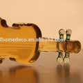 New products 750ml violin/fiddle/geige shaped glass wine bottle