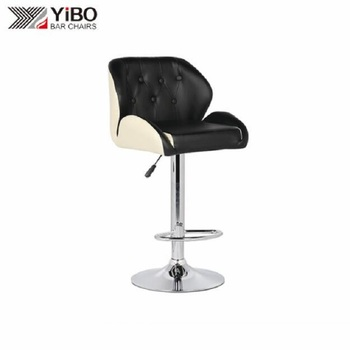 Professional Factory Made Super Soft PU Armrest Bar Chair With Metal Base