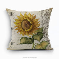 Latest design sunflower pillow case cushion cover