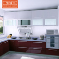 High quality fashion integral european uv paint mdf kitchen furniture