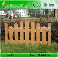 Outdoor Wooden Plastic Composite Fence Garden Decorate Fence