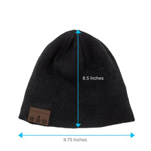 Winter Outdoor Sport Premium Knit Cap with Wireless Stereo Headphone Headset Earphone Speaker Mic Hands Free for Cell Phones