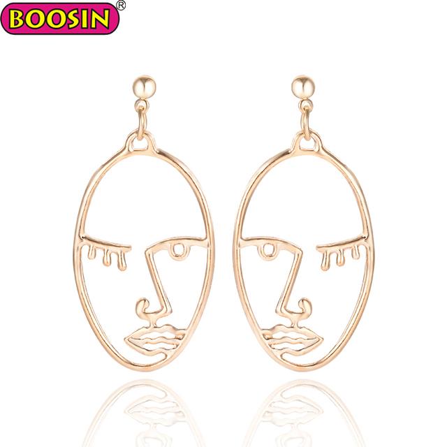 Custom silver jewelry hot sale jewelry face earrings simple design face stud earrings for ladies #23032