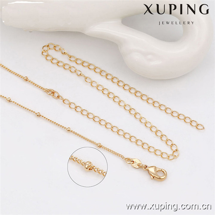 42834 Xuping new designed 18k gold color jewelry necklace chain