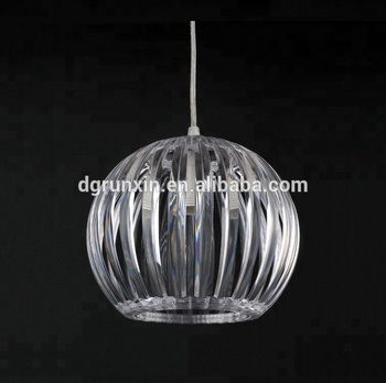 Large Acrylic Easy Fit Pendant Lampshade without Electric Parts