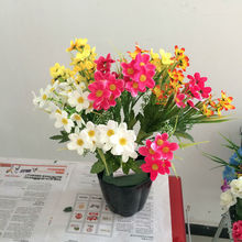 star shapped silk flowers for home decoration