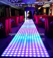 1mX1m Super Slim RGB colorful led portable dance floor for used dance floor for sale