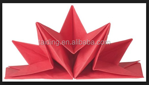 Pre folded paper napkin for high-end restaurant and hotel