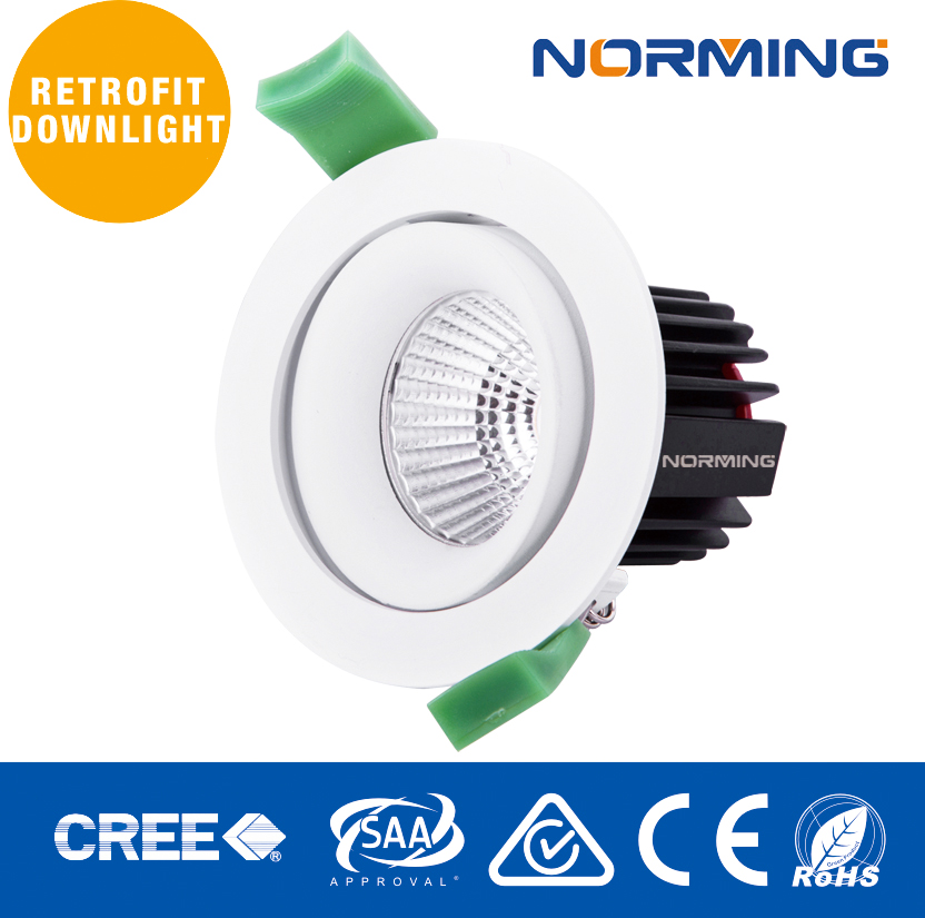 TOP SELLING!! Professional Adjustable 9W LED COB downlight led 36 degree beam angle
