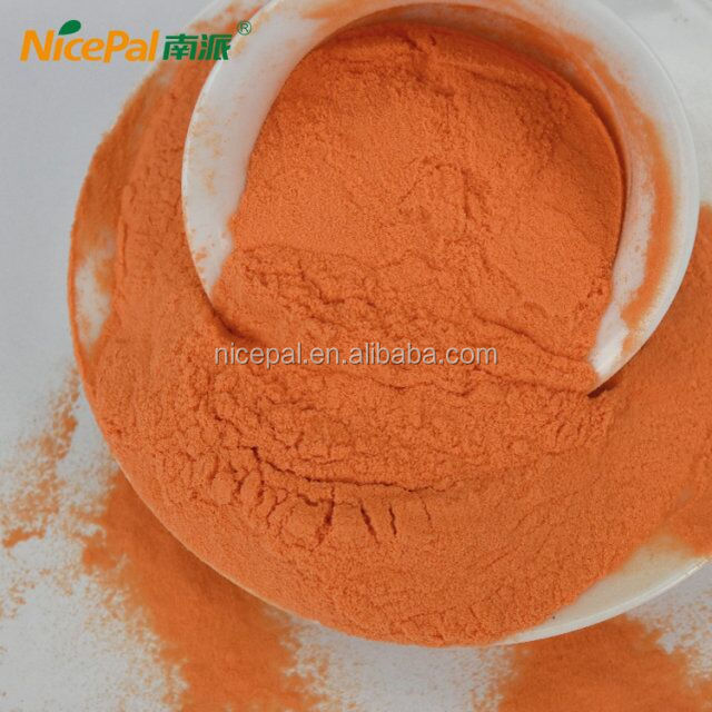 Dried carrot fruit vegetable juice powder to make food supplements