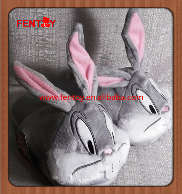 Looney Tunes bugs bunny Ladies warm and cute Plush slippers