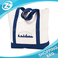 China Wholesale Canvas Cotton LOGO Shopper Bag