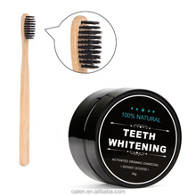 IN STOCK Bamboo Toothbrush and Coconut Shell Activated Teeth Whitening Charcoal Gift Set