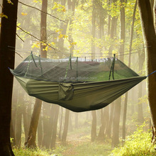 Lightweight Mosquito Hammock, Parachute Hammock With Mosquito Protection In Natural Colors
