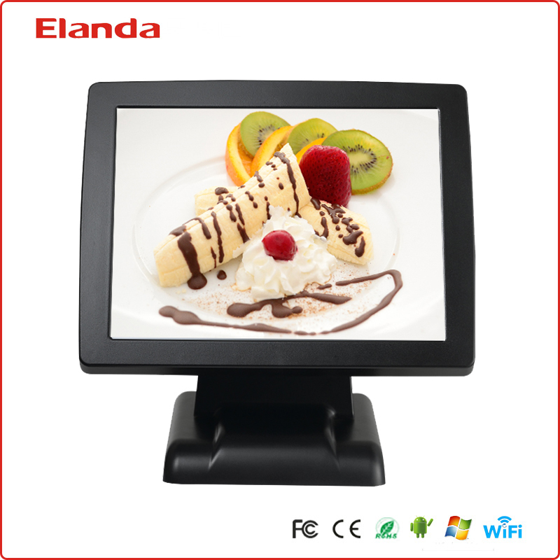 Elanda all in one quad-core touch screen pos system with 80mm thermal printer
