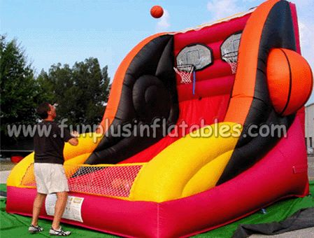 FunPlus inflatables,inflatable sport games,inflatable basketball hoop game F6015