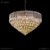 Popular modern furniture luxury crystal wall lighting with clear glass strip for decoration HXW9343-E14-3