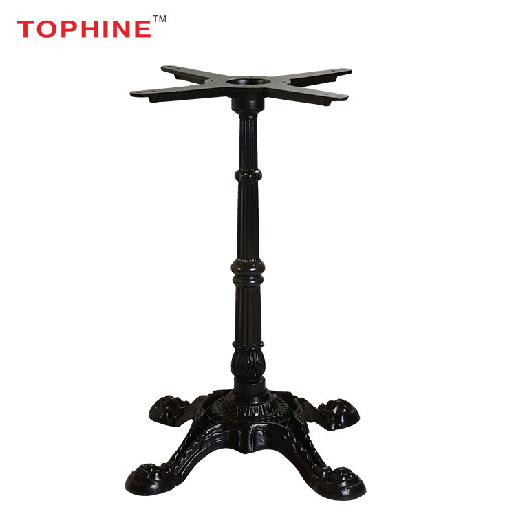 Vintage furniture black antique wrought cast iron table base/ center table legs